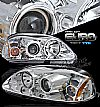 Honda Civic  1996-1998 Projector Headlights - Chrome Housing Clear Lens