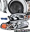 1993 Honda Civic 2dr/3dr  Projector 1 Pc Headlights - Chrome Housing Clear Lens