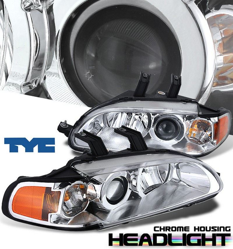 Honda Civic 2dr/3dr 1992-1995 Projector 1 Pc Headlights - Chrome Housing Clear Lens 