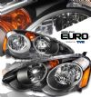 Acura Rsx 2002-2004  Black Euro Crystal Headlights