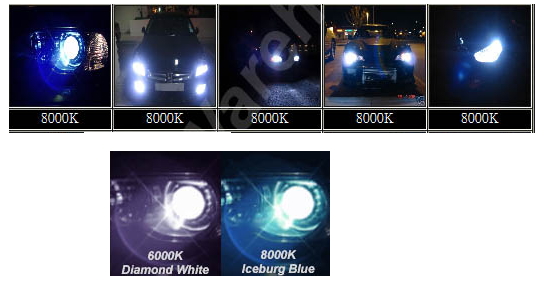 H8 8000K HID Headlight Conversion Kit
