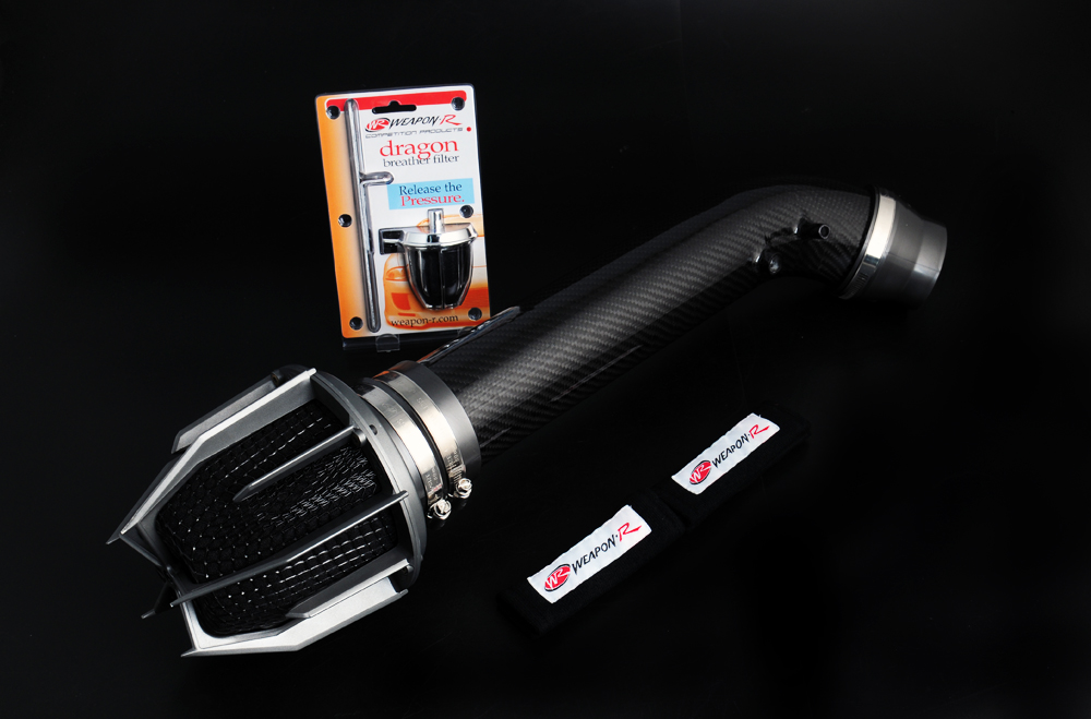 Honda Accord 4cyl ( Carbon Fiber Wrapped Pipe ) 1990-1993 Weapon-R Dragon Air Intake