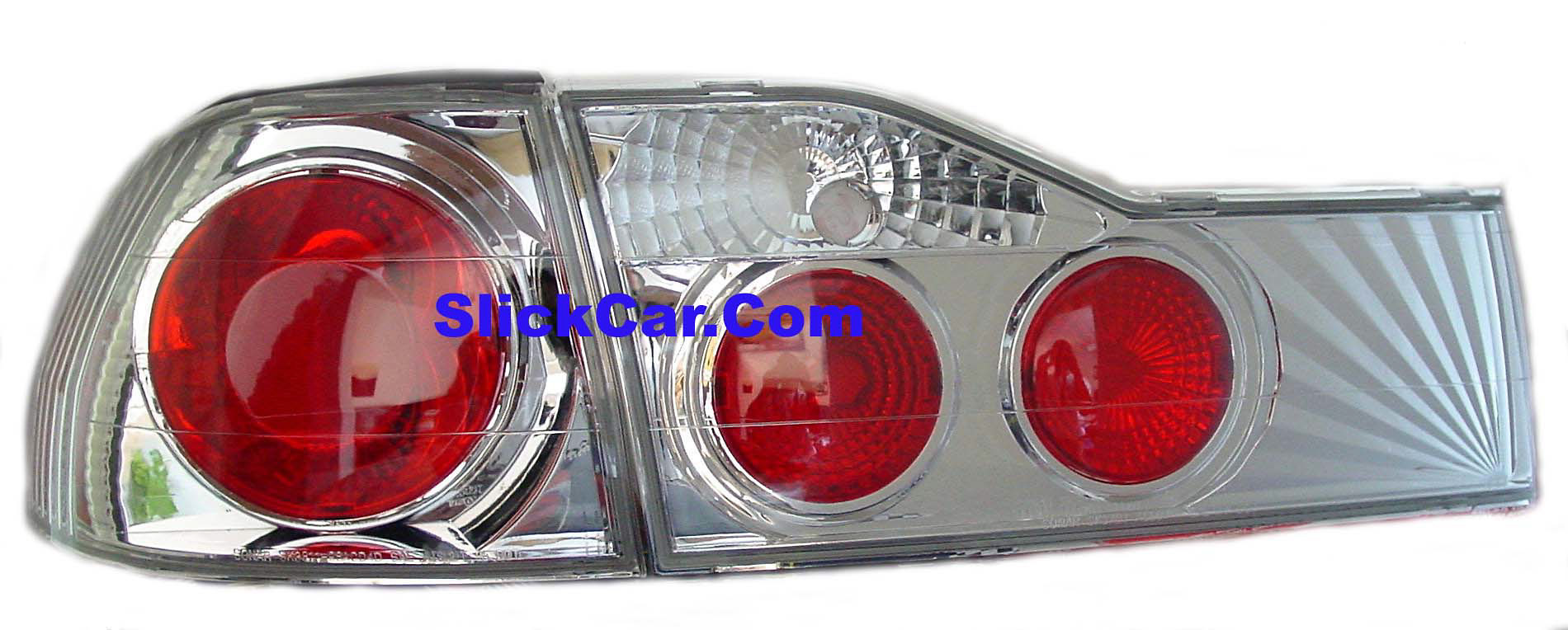 Honda Accord 2001-2002 4DR Clear Altezza Style Tail Lights