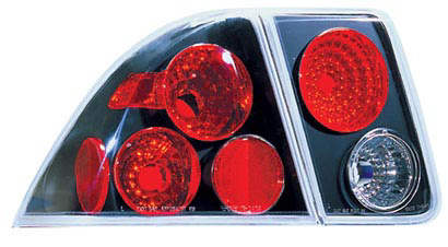 Honda Civic 4 Door Sedan 01-05 Black Tail Lights