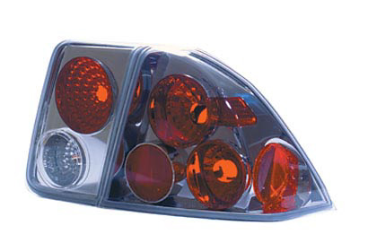Honda Civic 4 Door Sedan 01-04 Chrome Tail Lights
