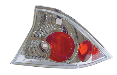 Honda Civic Coupe 2001-2003 Chrome Euro Taillight (TYC)