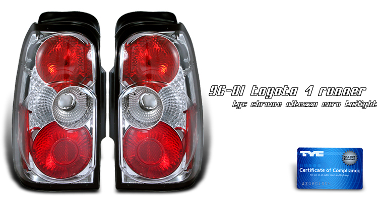 Toyota 4runner 1996-2000  Chrome Euro Tail Lights