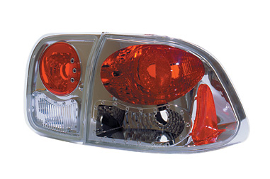 Honda Civic Sedan 1996-1998 Chrome Euro Taillight (TYC)