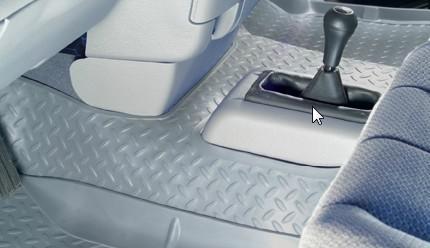Dodge Ram 2011-2012 1500/2500/3500,  Husky Classic Style Series Center Hump Floor Liner - Gray
