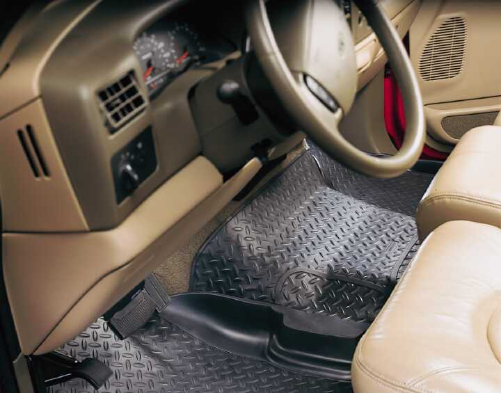 Ford Super Duty 2008-2010 F-450,  Husky Weatherbeater Series Center Hump Floor Liner - Black