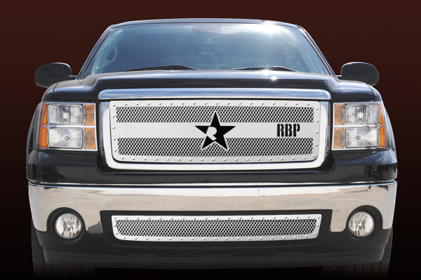 Gmc Sierra 1500 (except All - Terrain Edition) 2007-2011 - Rbp Rx-3 Series Studded Frame Main Grille Chrome