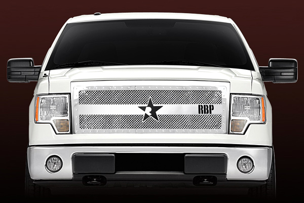 Ford F150 (except Harley Edition) 2009-2012 - Rbp Rx-3 Series Studded Frame Main Grille Chrome 1pc