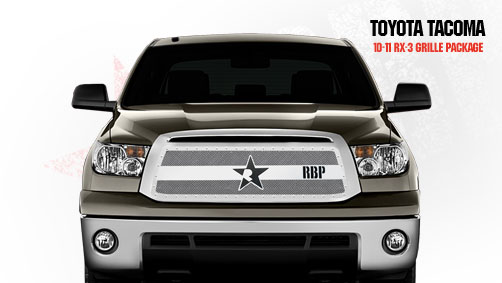 Toyota Tundra (except Limited) 2010-2011 - Rbp Rx-3 Series Studded Frame Main Grille Chrome