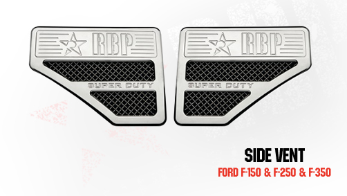 Ford Excursion  1999-2007 - Rbp Side Vents F250 Style  Chrome