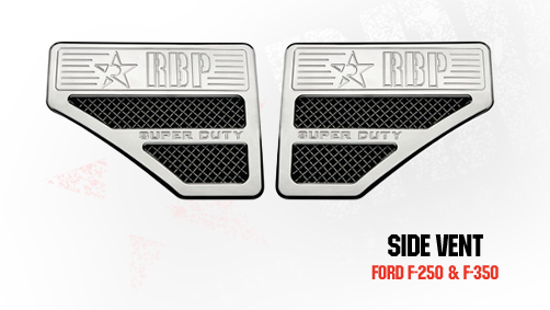 Ford Super Duty (except Harley Edition) 2008-2010 - Rbp Side Vents  Chrome