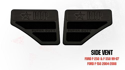 Ford Excursion  1999-2007 - Rbp Side Vents F250 Style  Black