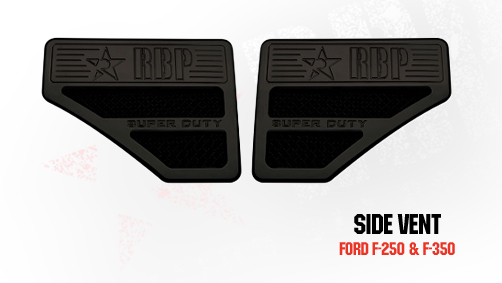 Ford Super Duty (except Harley Edition) 2008-2010 - Rbp Side Vents  Black