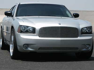 Dodge Charger 2006-2007 Polished Horizontal Billet Grill (44 Bars)