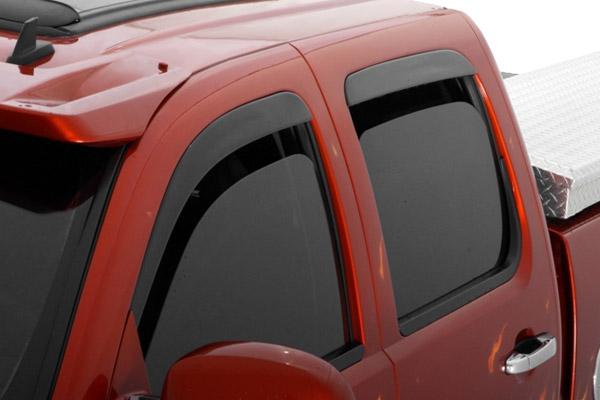 Chevrolet Silverado Crew Cab 2007-2012 Ventvisor Seamless Front & Rear Window Deflectors (4pc Smoke)