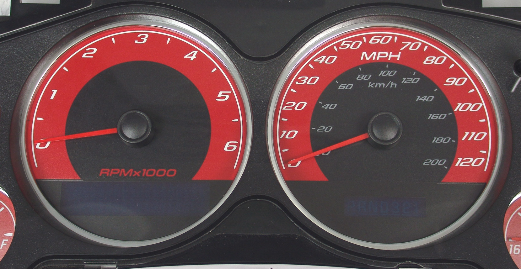 Chevrolet Avalanche 2007-2009  Red / Blue Night Performance Dash Gauges
