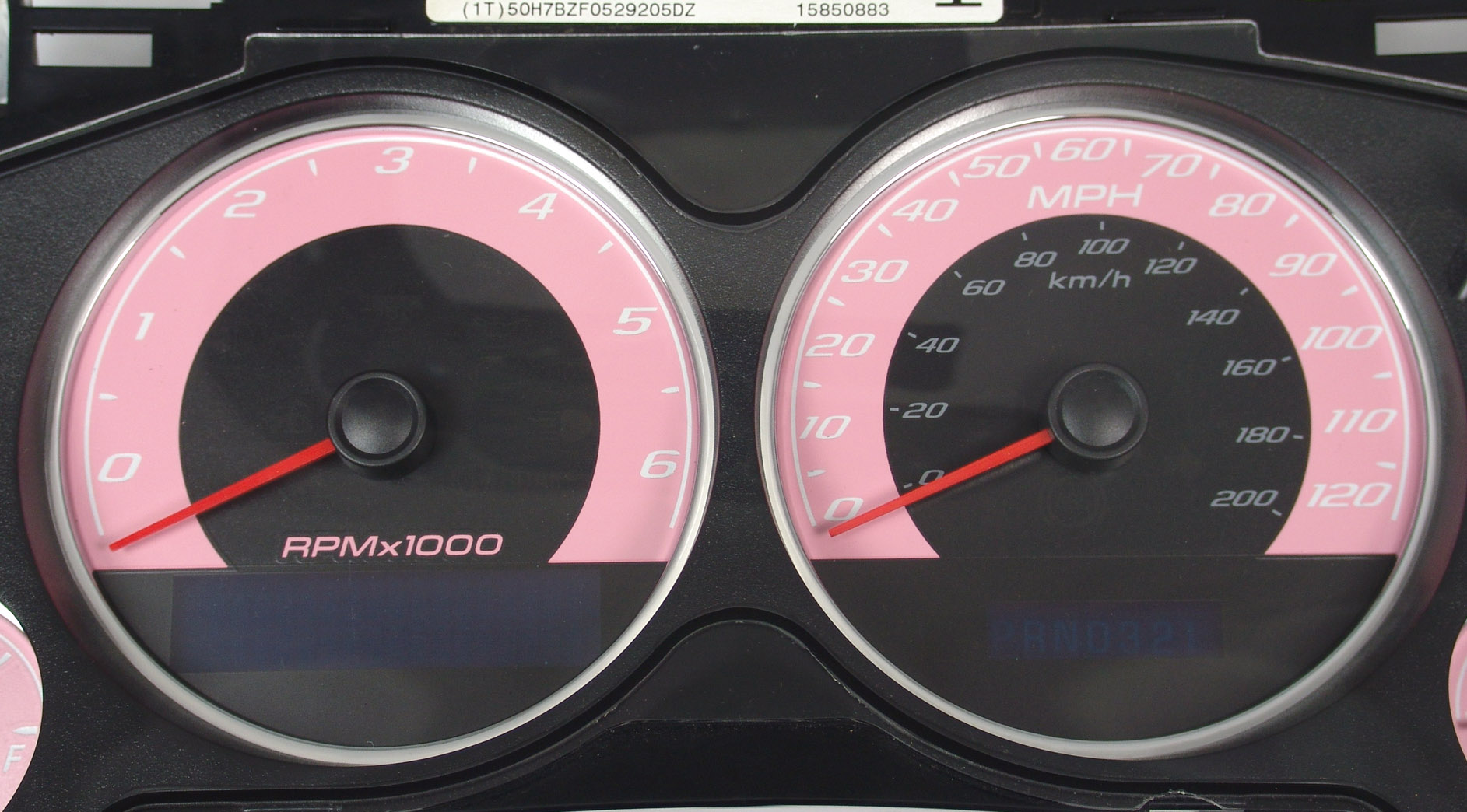 Chevrolet Avalanche 2007-2009  Pink / Blue Night Performance Dash Gauges