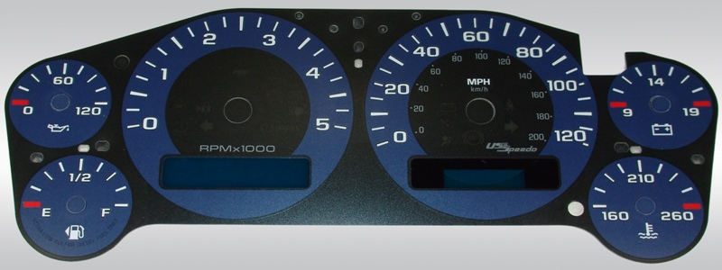 Chevrolet Silverado 2007-2009 Hd Blue / Blue Night Performance Dash Gauges
