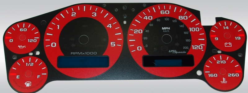 Gmc Sierra 2007-2009 Hd Red / Blue Night Performance Dash Gauges