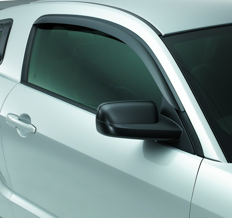 Jeep Wrangler 2-Door 2007-2012 Ventvisor Front Wind Deflectors (smoke)