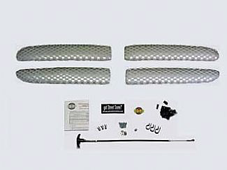 Dodge Dakota & Durango 2000-2003 Main Grill, Without Shell Brushed