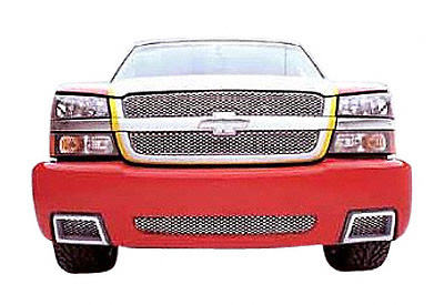 Chevy Pickup Full Size 2003-2004 Main Grill, Without Shell, Polished Stainless Steel