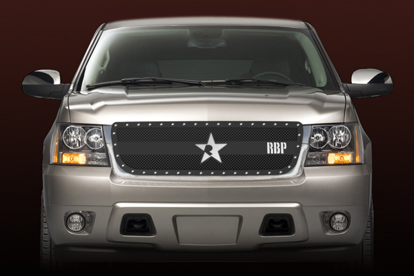 Chevrolet Avalanche  2007-2011 - Rbp Rx-3 Series Studded Frame Main Grille Black 1pc