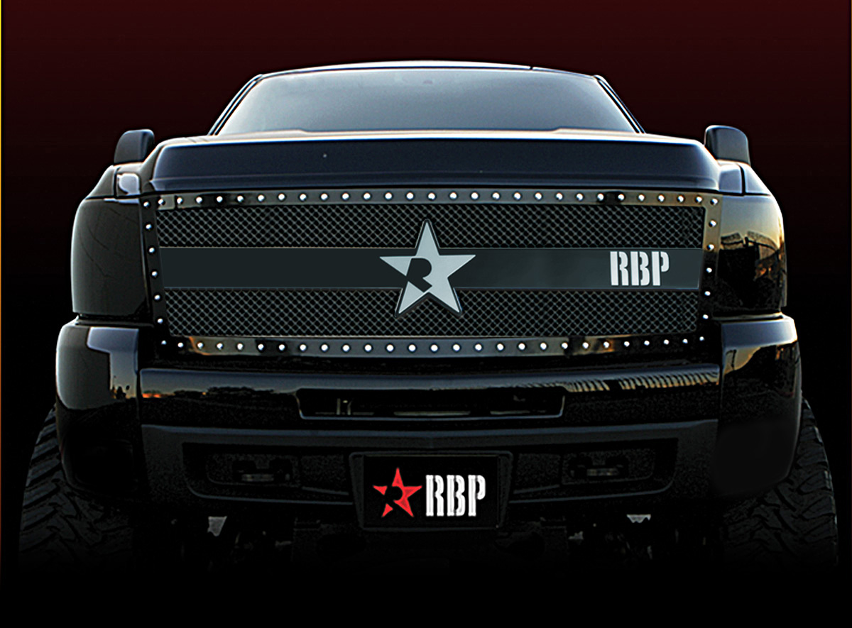 Chevrolet Silverado 2500hd/3500hd 2007-2010 - Rbp Rx-3 Series Studded Frame Main Grille Black 1pc