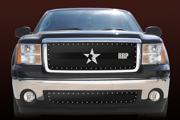 Gmc Sierra 1500 (except All - Terrain Edition) 2007-2011 - Rbp Rx-3 Series Studded Frame Main Grille Black