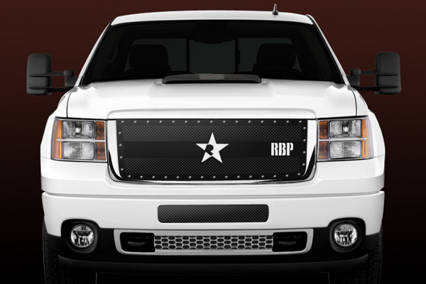 Gmc Sierra 2500hd, 3500 (except Denali) 2011-2012 - Rbp Rx-3 Series Studded Frame Main Grille Black 3pc