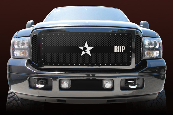 Ford Super Duty (except Harley Edition) 2005-2007 - Rbp Rx-3 Series Studded Frame Main Grille Black 3pc