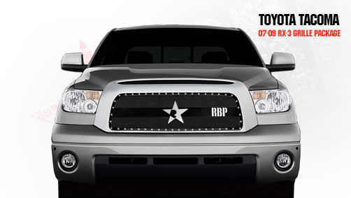 Toyota Tundra  2007-2009 - Rbp Rx-3 Series Studded Frame Main Grille Black