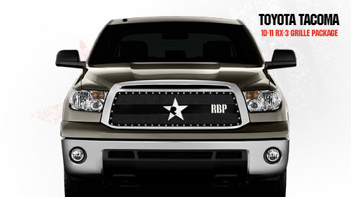 Toyota Tundra (except Limited) 2010-2011 - Rbp Rx-3 Series Studded Frame Main Grille Black