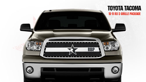 Toyota Tundra (except Limited) 2010-2011 - Rbp Rx-3 Series Studded Frame Main Grille Black/Chrome