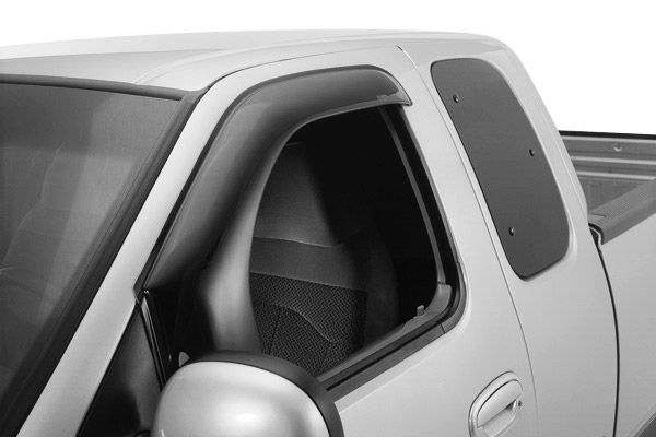 Dodge Ram 1500 Quad Cab 2002-2008 Aerovisor Front Window Deflectors (smoke)