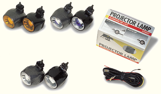 Projection Lights Amber - Black Rim