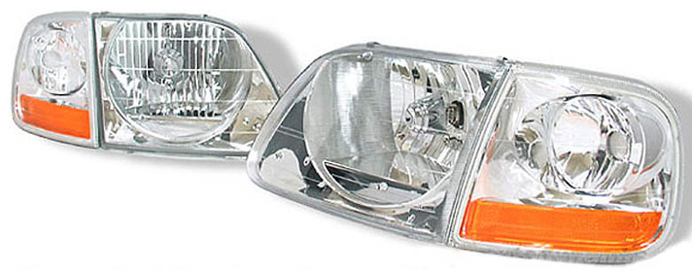 Ford F150, Expedition 97-02 Euro Clear Headlights w/ matching Euro Corner Light Combo