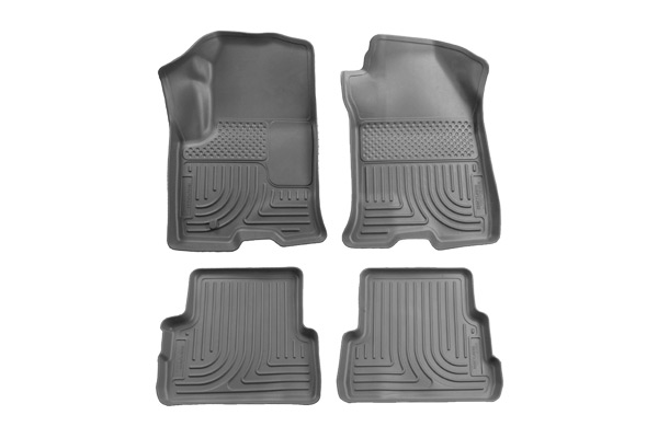 Ford Super Duty 2011-2012 F-450,  Husky Weatherbeater Series Front & 2nd Seat Floor Liners - Gray