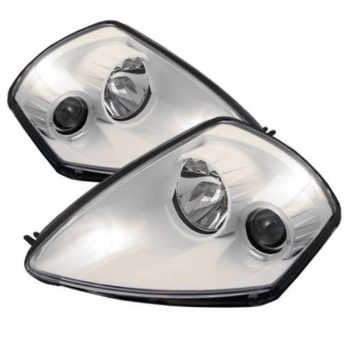 Mitsubishi Eclipse 2000-2005 White Housing Halo Projector Headlights