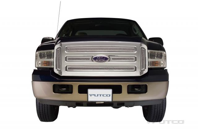 Ford Super Duty 2005-2007 Putco Liquid Mesh Grill- Including Side Vents(Covering Logo)