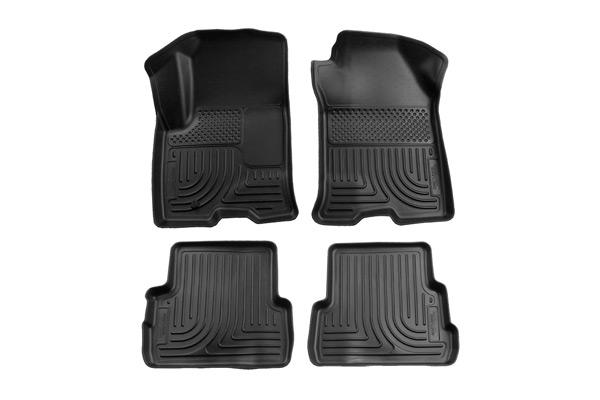 Hyundai Santa Fe 2013-2014 Fe,  Husky Weatherbeater Series Front & 2nd Seat Floor Liners - Black