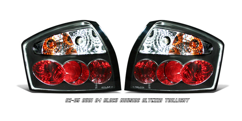 Audi A4 2002-2005 Black Euro Tail lights