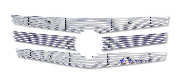 Cadillac CTS  2008-2012 Polished Main Upper Aluminum Billet Grille