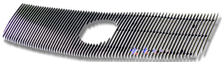 Cadillac Escalade  2002-2006 Black Powder Coated Main Upper Black Aluminum Billet Grille