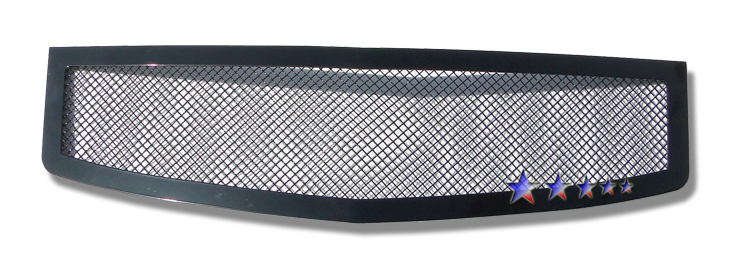 Cadillac CTS  2003-2007 Black Powder Coated Main Upper Black Wire Mesh Grille