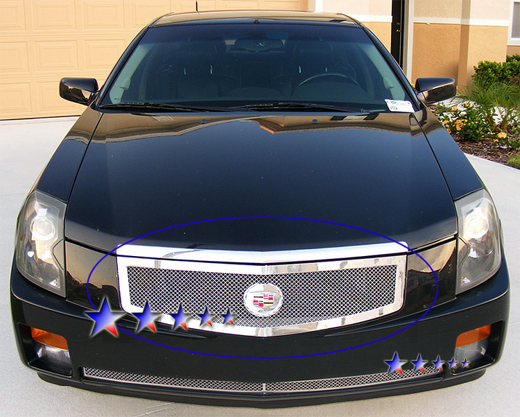 Cadillac CTS  2003-2007 Chrome Main Upper Mesh Grille